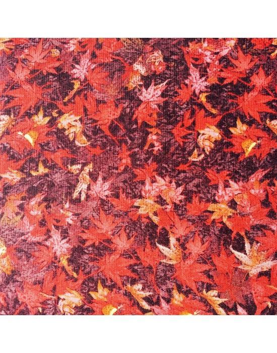 Tela patchwork flores otoñales  - 10 x 114 cm