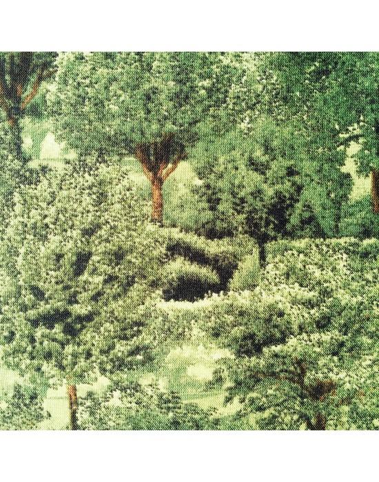 Tela patchwork temática bosque -10 x 114 cm
