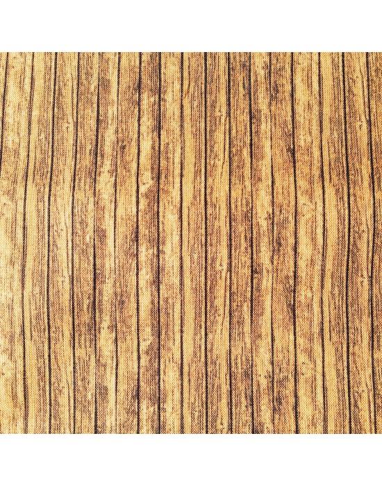 Tela patchwork temática madera -10 x 114 cm