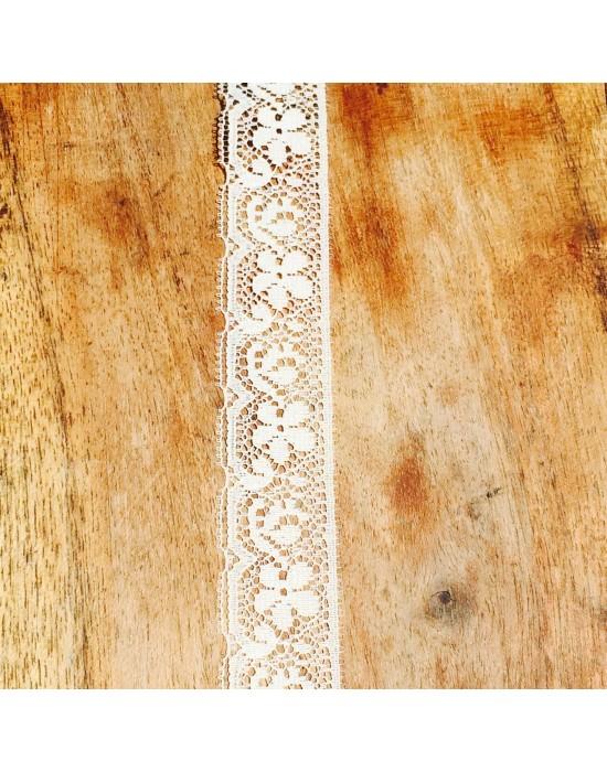 Puntilla bordada beige  -10 x 2,4 cm