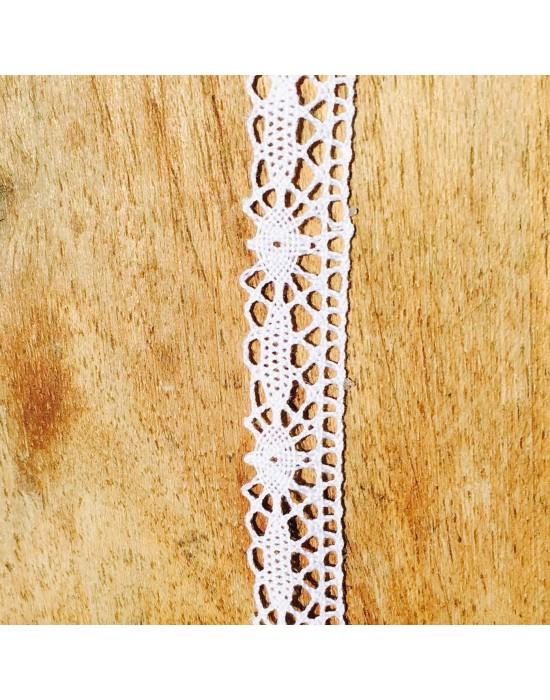 Puntilla bolillos blanca - 10 x 1,2 cm