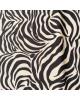 Tela patchwork  marrón cebra negra -10 x 114 cm
