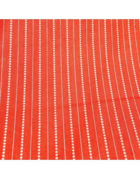Tela patchwork granate con rayas y puntos - 10 x 114 cm