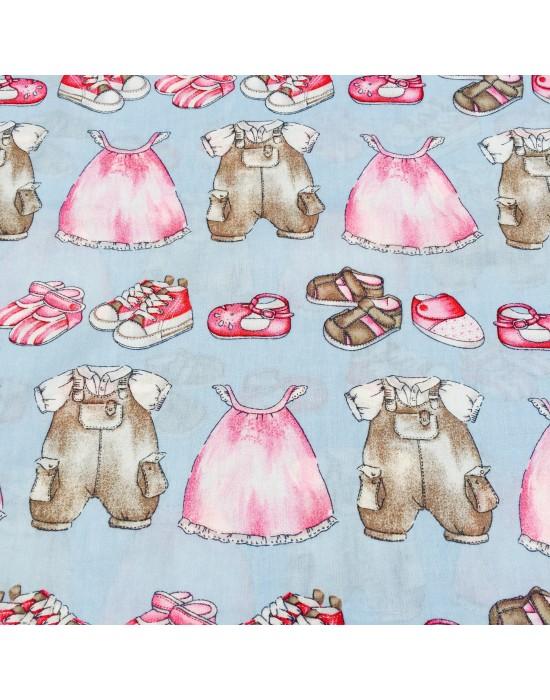 Tela patchwork ropa niños - 10 x 160cm