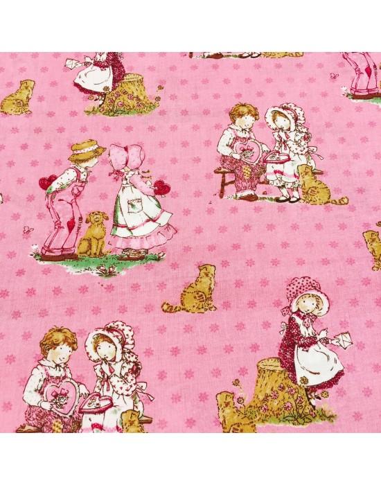 Tela patchwork pareja niños  - 10 x 160cm