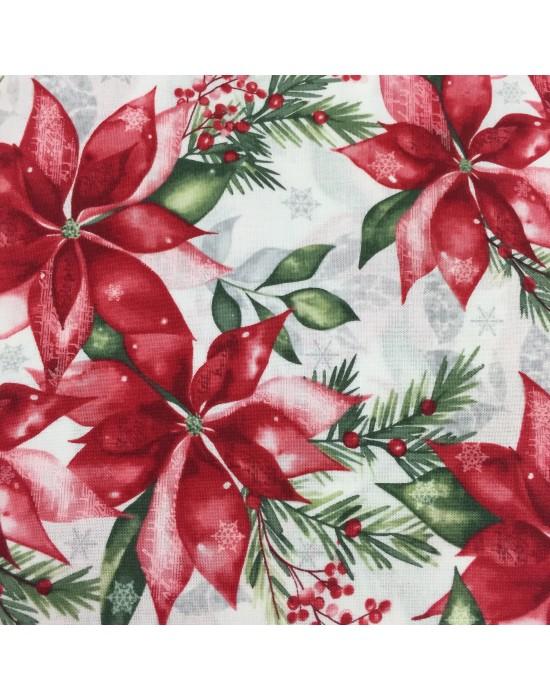Telas flores de Navidad