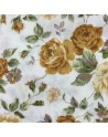 Tela patchwork blanca con flores - 10 x 114 cm