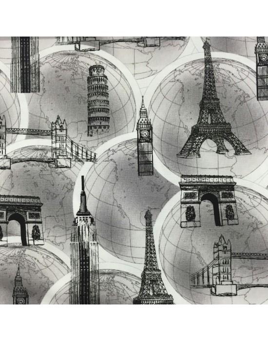 Tela patchwork monumentos históricos