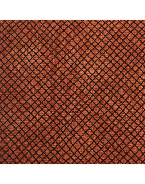 Tela patchwork marrón con rayas negras de Jaqueline Paton - 10 x 114 cm