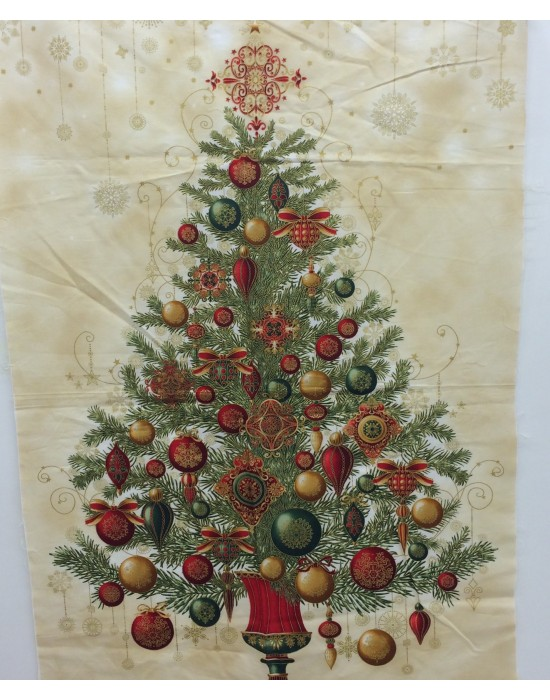 Tela patchwork panel árbol de navidad    60 x 114cm