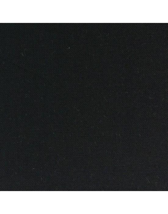 Tela algodón negra lisa