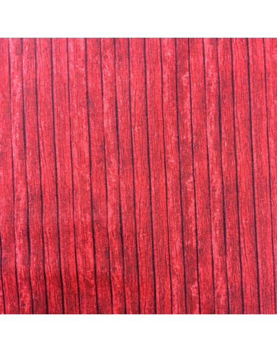 Tela imitación madera en rojo - 10 x 112 cm