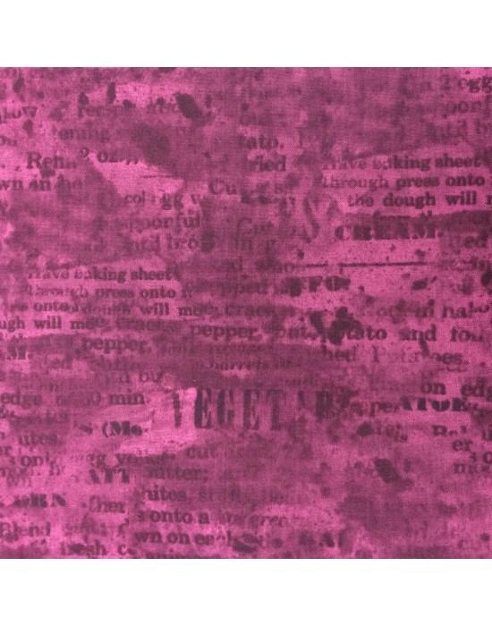 Tela morada con escrito en negro - 10 x 116 cm