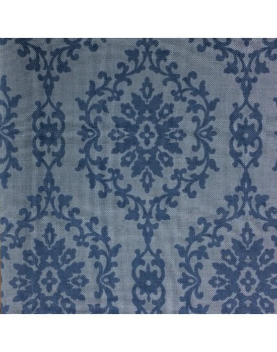 Tela azul con formas en azul oscuro - 10 x 116 cm
