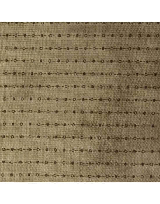 Tela con puntos y rayas en tonos marrones - 10 x 116 cm