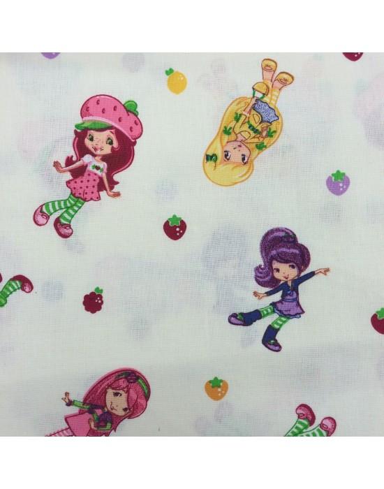 Tela muñequitas Tarta de Fresa - 10 x 160 cm