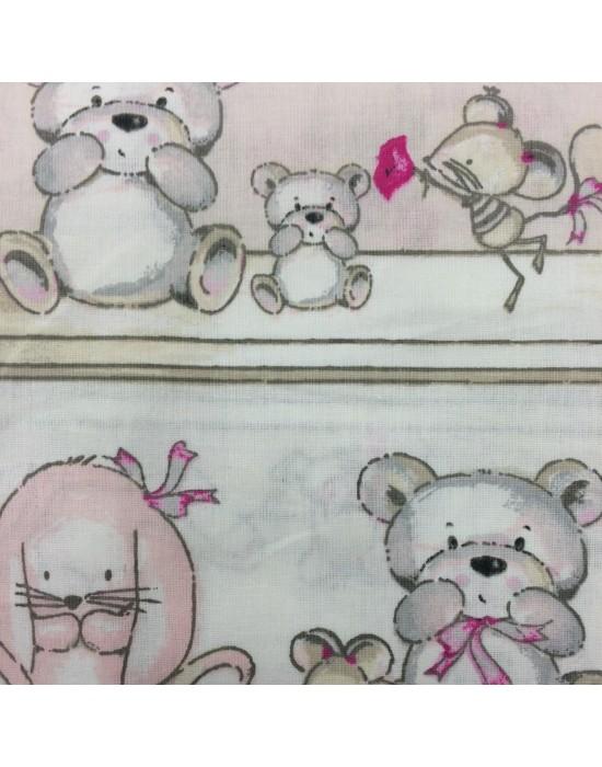 Tela de osos y ratones - 160 cm