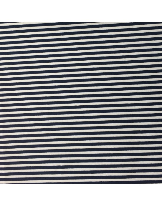 Tela rayada marinera en azul - 10 x 116 cm