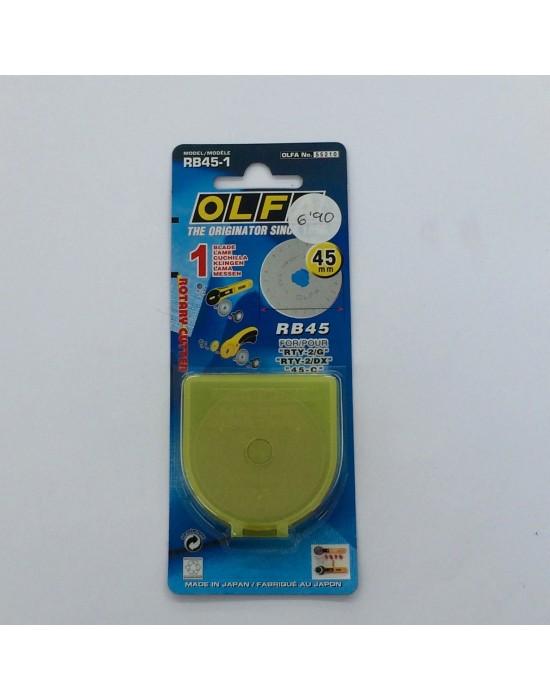 Cuchilla recambio cutter Olfa 45 mm
