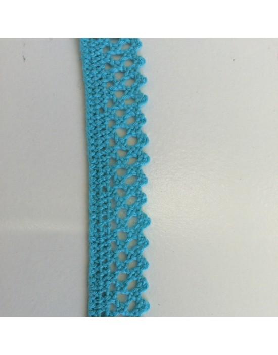 Puntilla azul turquesa