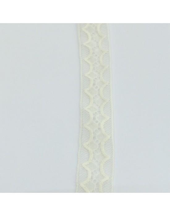 Puntilla entredos beige -10 x 2,20 cm