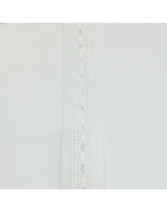 Puntilla pasa cintas blanca -10 x 2,50 cm