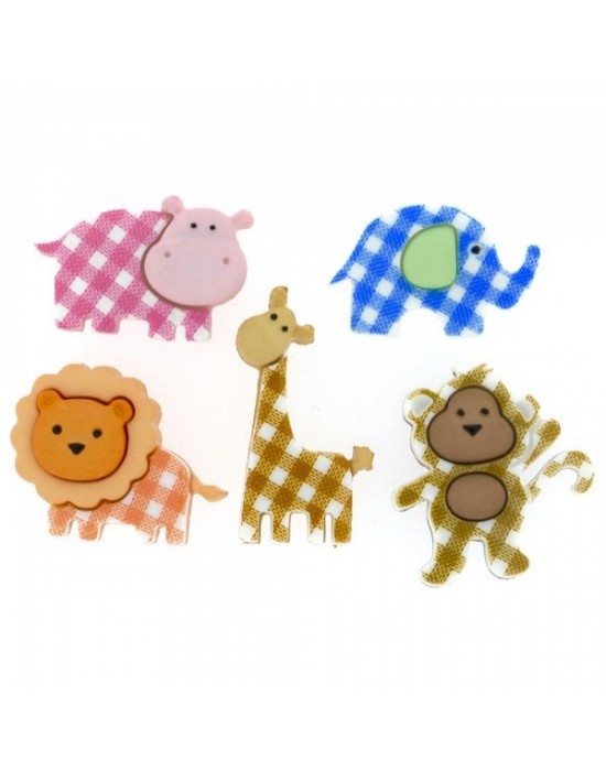 Botones Dress it up- Baby Safari