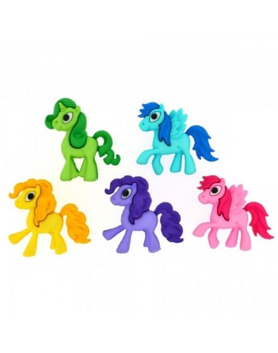 Botones Dress it up- Playful Ponies