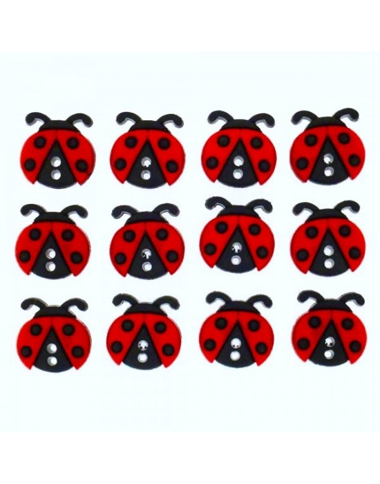 Botones Dress it up- Sew Cute Ladybugs