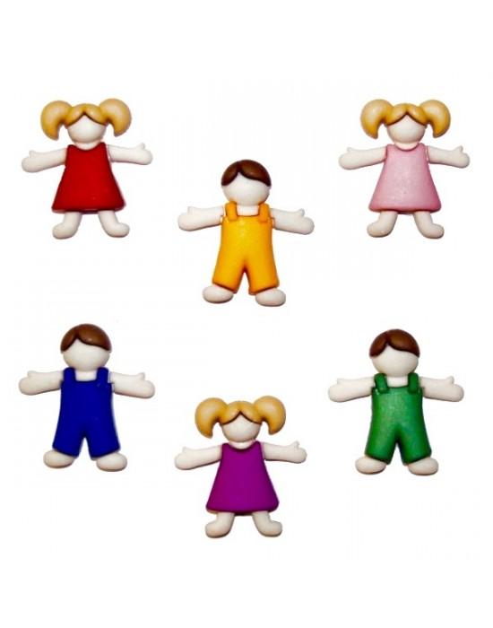 Botones Decorativos Niños y Niñas