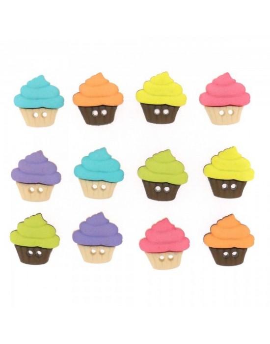 Botones Decorativos Cupcakes