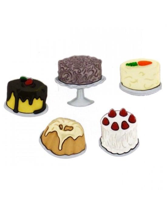 Botones Decorativos tartas