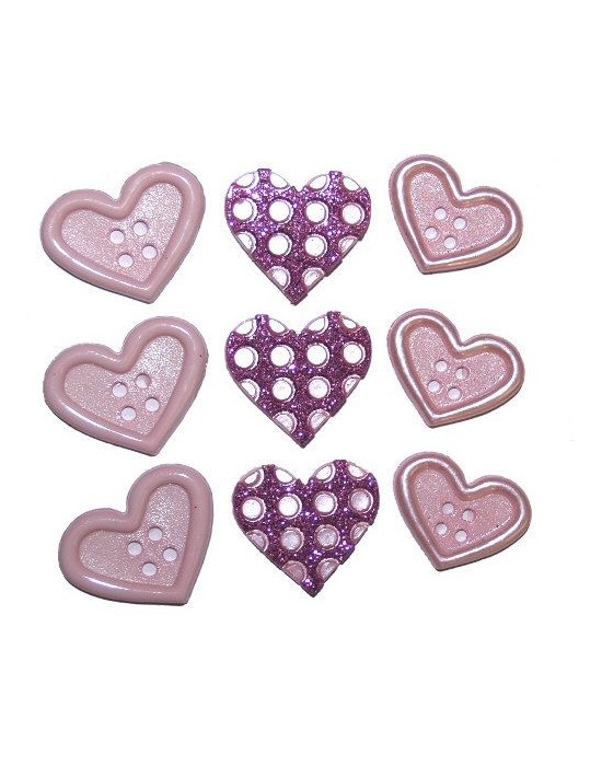 Botones Dress it up- Valentine Collection Heart to Heart