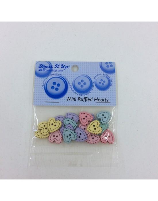 Botones Dress it up- Mini Ruffled Hearts