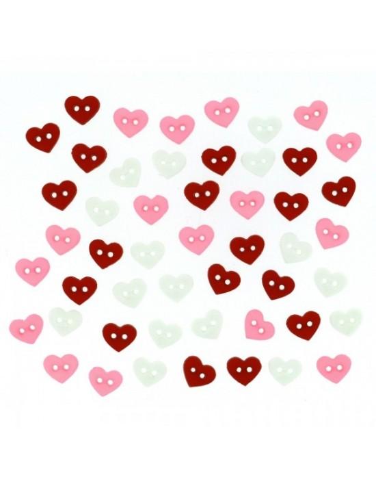Botones Dress it up- Valentine Collection Micro Valentine Hearts