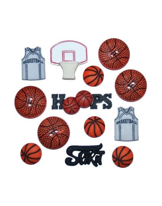 Botones Dress it up - Basketball