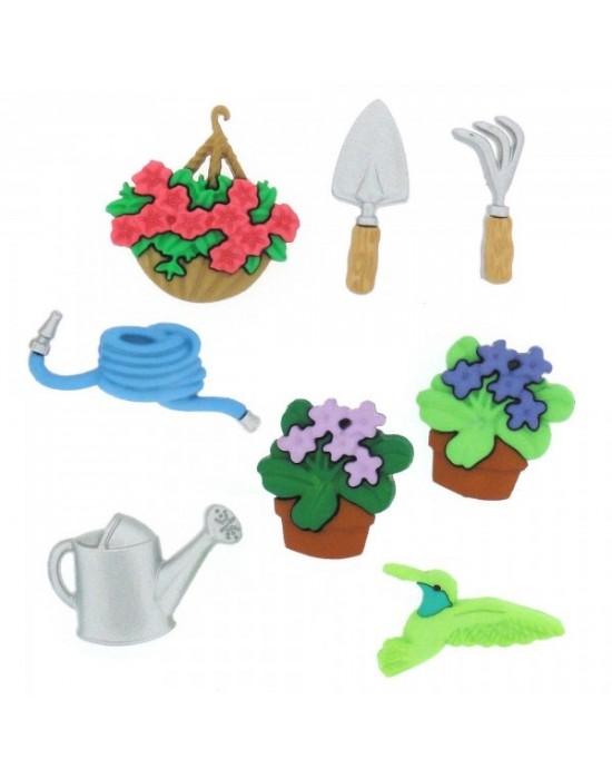 Botones Decorativos Jardineria