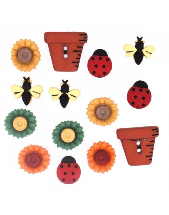 Botones Dress it up- Fall Collection Bugs And Blooms