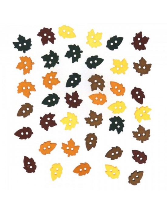 Botones Dress it up- Fall Collection Tiny Raking Leaves