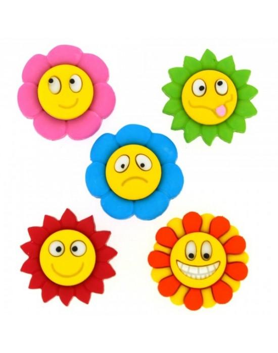 Botones Decorativos Flores