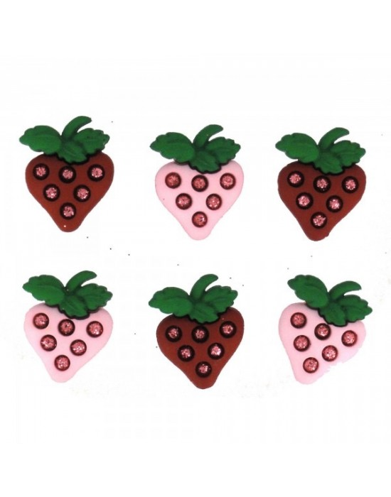 Botones Decorativos Fresas