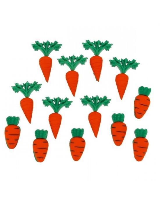 Botones Decorativos Zanahorias