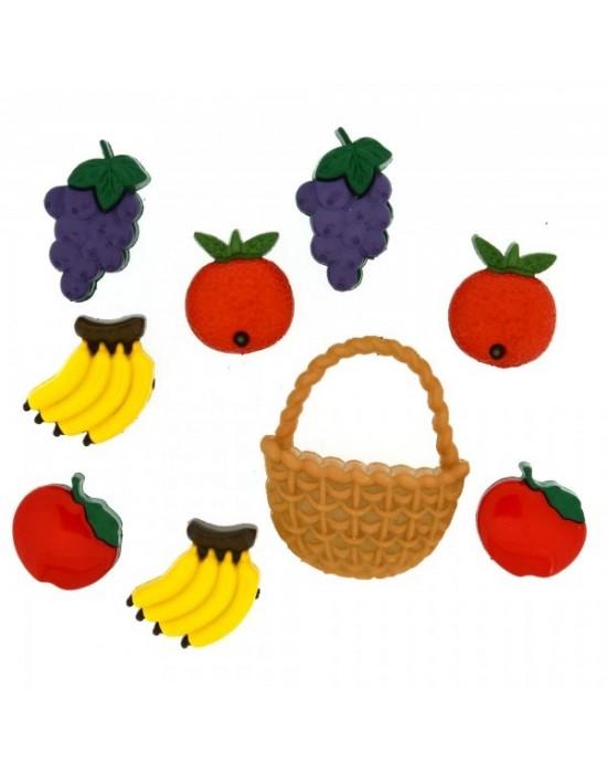 Botones Decorativos Frutas