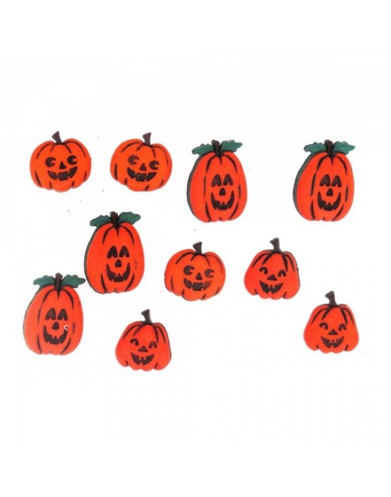 Botones Dress it up- Halloween Collection Jack O' Lanterns