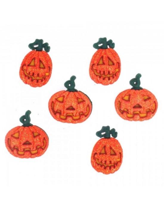 Botones Dress it up- Halloween Collection Glitter Pumpkins