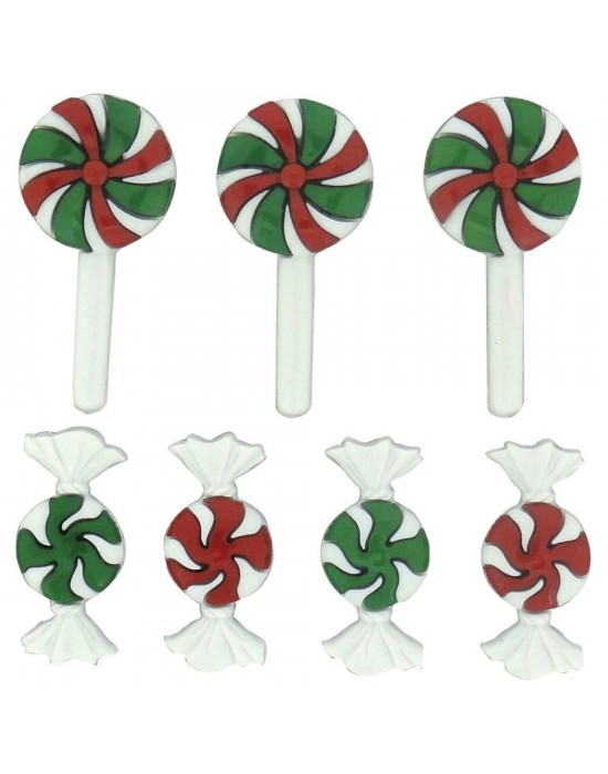 Botones Dress it up- Christmas Candy