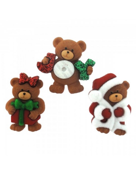 Botones Dress it up- A Beary Merry Christmas