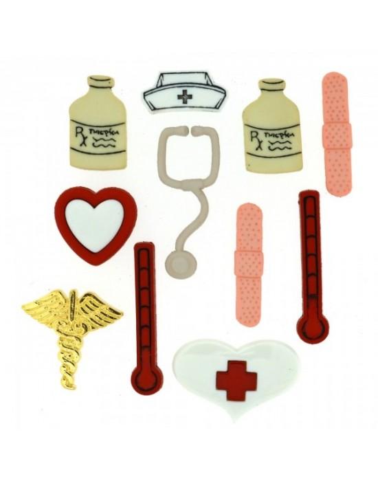 Botones Decorativos enfermería