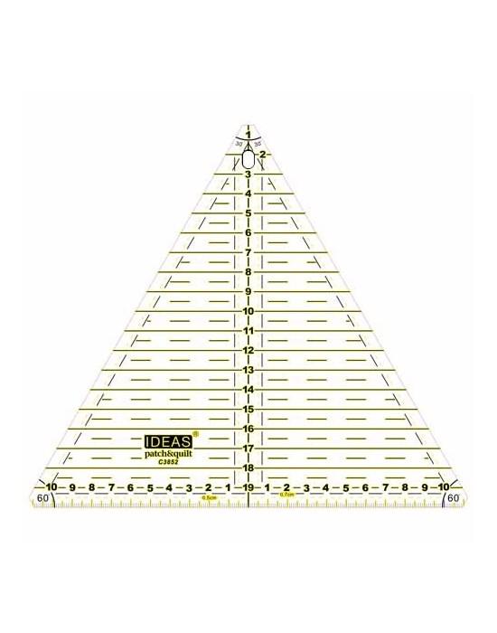 Regla corte triángulo 20 cm