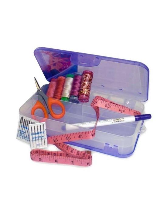 Caja para accesorios con doble compartimento